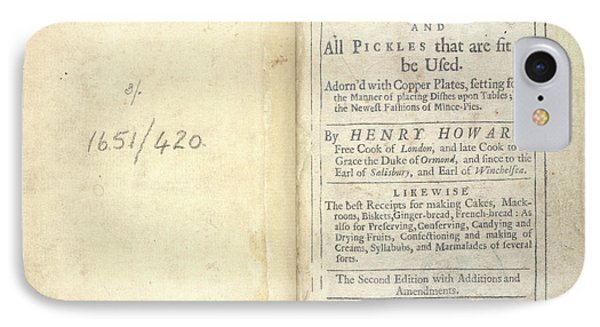 England's Newest Way In Cookery IPhone Case by British Library