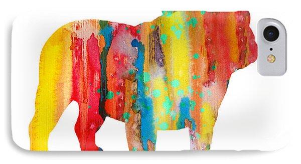 English Bulldog IPhone Case by Watercolor Girl