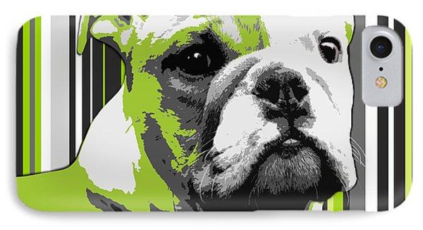 English Bulldog Puppy Abstract Phone Case by Natalie Kinnear
