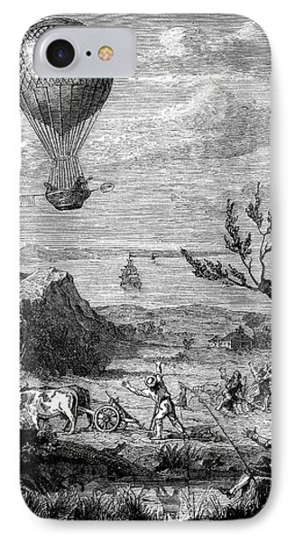 English Channel Balloon Crossing IPhone Case by Science Photo Library