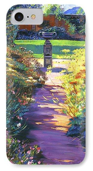 English Garden Urn IPhone Case by David Lloyd Glover