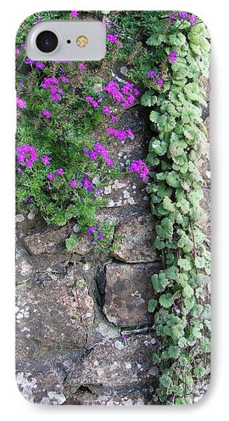 English Garden Wall IPhone Case by Bev Conover