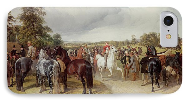 English Horse Fair On Southborough Common Phone Case by John Frederick Herring Snr