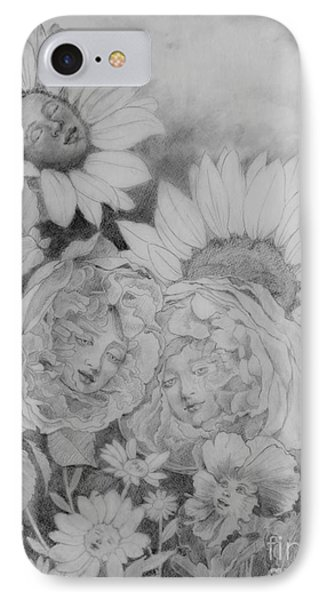 English Roses African Sunflower IPhone Case