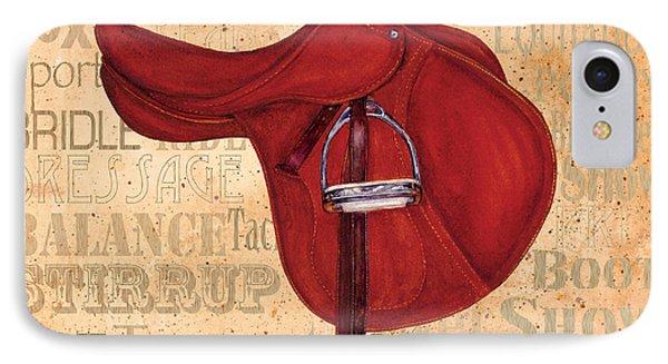 English Saddle - Tea Stained IPhone Case