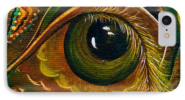 IPhone Case featuring the painting Enigma Spirit Eye by Deborha Kerr