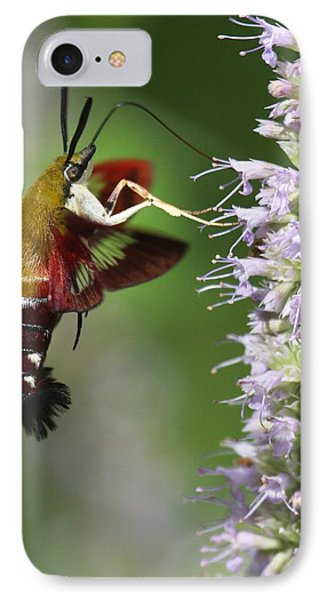 IPhone Case featuring the photograph Enjoying The Flowers by Myrna Bradshaw