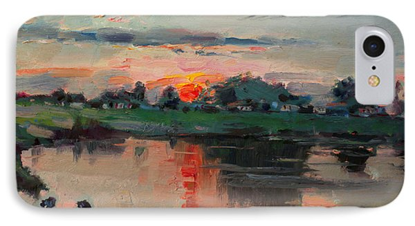 Enjoying The Sunset By Elmer's Pond IPhone Case by Ylli Haruni