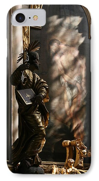 IPhone Case featuring the sculpture Enlightend by Steve Godleski