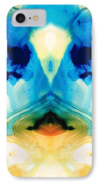 Enlightenment - Abstract Art By Sharon Cummings IPhone Case by Sharon Cummings