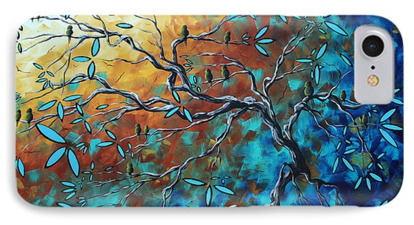 Enormous Abstract Bird Art Original Painting Where The Heart Is By Madart IPhone Case