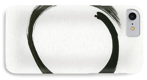 Enso #1 - Zen Circle Minimalistic Black And White IPhone Case by Marianna Mills