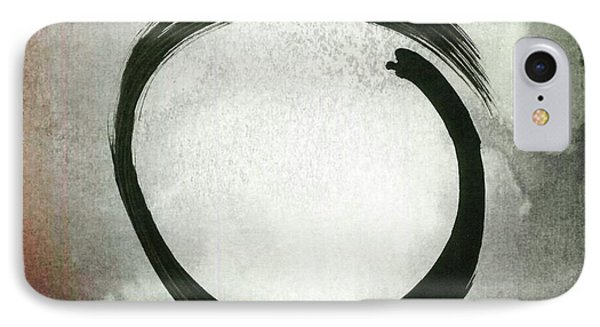 Enso #3 - Zen Circle Abstract Red And Black IPhone Case
