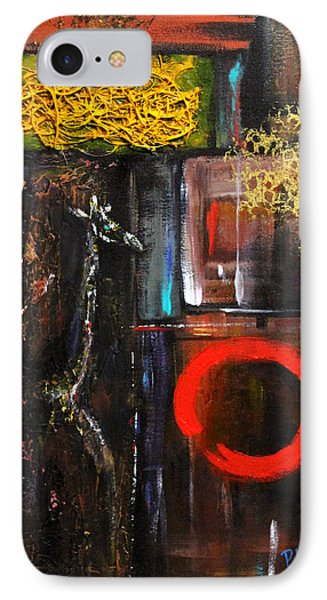 IPhone Case featuring the painting Enso Abstract by Patricia Lintner