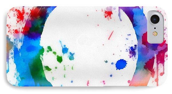 Enso Circle Paint Splatter IPhone Case