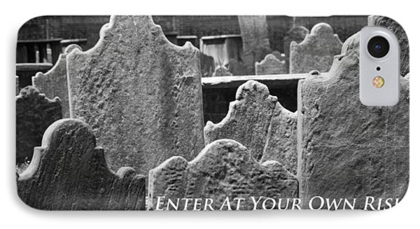 Enter At Your Own Risk IPhone Case by Patrice Zinck