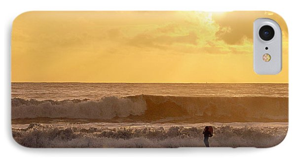 IPhone Case featuring the photograph Enter The Surfer by AJ  Schibig