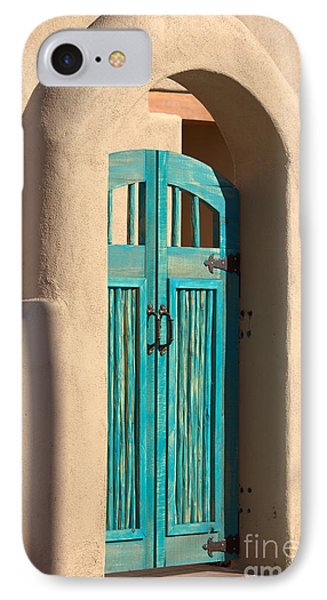 Enter Turquoise IPhone Case by Barbara Chichester