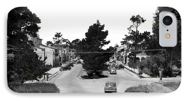 Entering Carmel By The Sea Calif. Circa 1945 IPhone Case by California Views Mr Pat Hathaway Archives