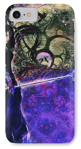 Entering In The Spirit Of The Night Phone Case by Linda Sannuti