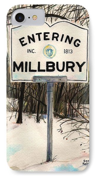 Entering Millbury IPhone Case by Scott Nelson
