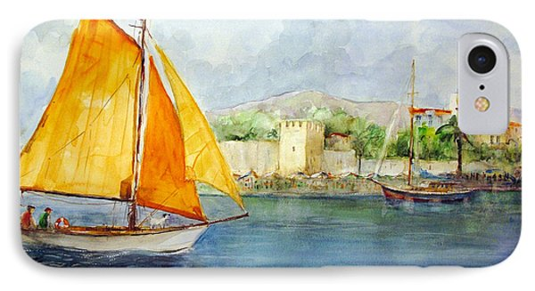 Entering The Port - Foca Izmir IPhone Case by Faruk Koksal
