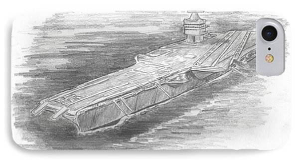 Enterprise Aircraft Carrier IPhone Case by Michael Penny
