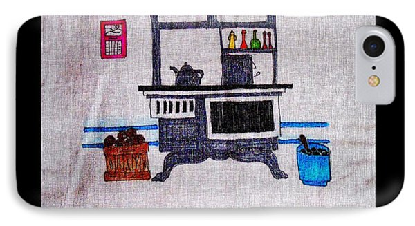 Enterprise Woodstove - Grey IPhone Case by Barbara Griffin