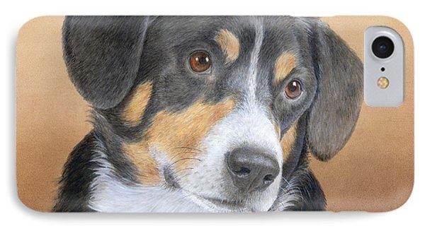 Entlebucher Mountain Dog IPhone Case by Diane Cardaci