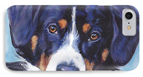 Entlebucher Mountain Dog Phone Case by Lee Ann Shepard