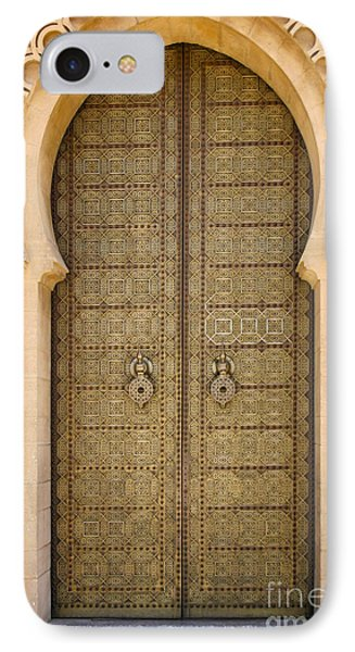 Entrance Door To The Mausoleum Mohammed V Rabat Morocco IPhone Case by Ralph A  Ledergerber-Photography