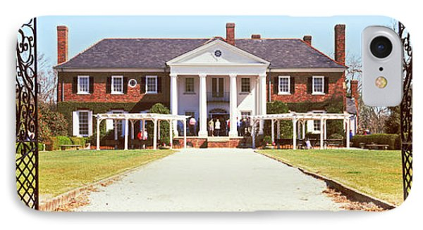 Entrance Gate Of A House, Boone Hall IPhone Case by Panoramic Images