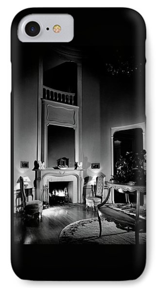 Entrance Hall Of Joan Bennett And Walter Wagner's IPhone Case by Maynard Parker