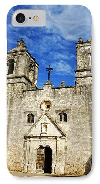 IPhone Case featuring the photograph Entrance To Mission Concepcion by Lincoln Rogers
