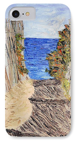 IPhone Case featuring the painting Entrance To Summer by Michael Daniels