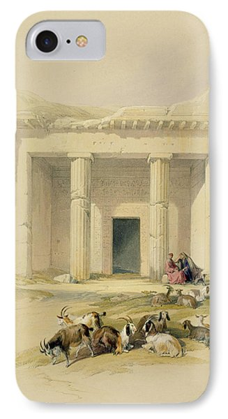 Entrance To The Caves Of Bani Hasan Phone Case by David Roberts