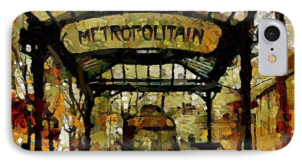 Entrance To The Paris Metro IPhone Case by Dragica  Micki Fortuna