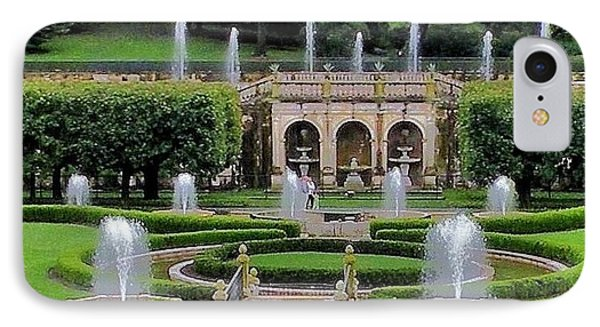 Entry Fountains At Longwood Gardens Phone Case by Kim Bemis