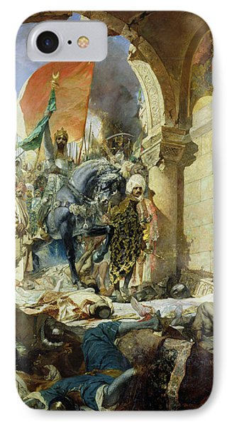 Entry Of The Turks Of Mohammed II Into Constantinople IPhone Case by Benjamin Constant