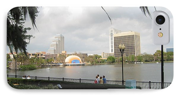 Eola Park In Orlando IPhone Case by Judith Morris