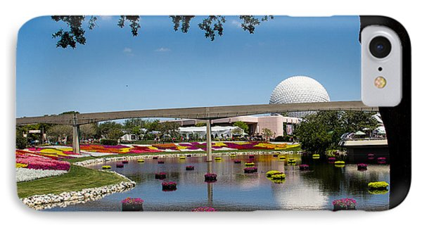 Epcot At Disney World Phone Case by Roger Wedegis