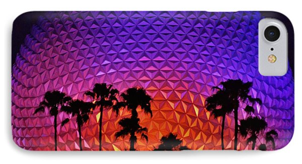 Epcot Ball With Palm Trees IPhone Case