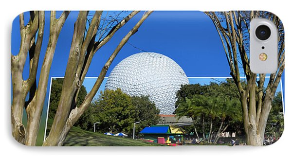 Epcot Globe 02 Phone Case by Thomas Woolworth