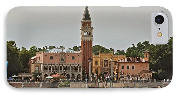 Epcot Italy Pavilion IPhone Case by Carol  Bradley