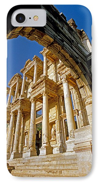 Ephesus Library 2 IPhone Case by Dennis Cox WorldViews