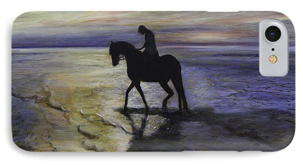 Epona At Sunset IPhone Case by Ron Richard Baviello