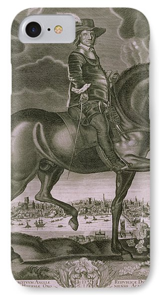 Equestrian Portrait Of Oliver Cromwell  IPhone Case by Albert Haelwegh