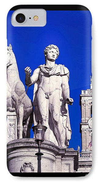 Equestrian Statue At Capitoline Hill Phone Case by Stefano Senise