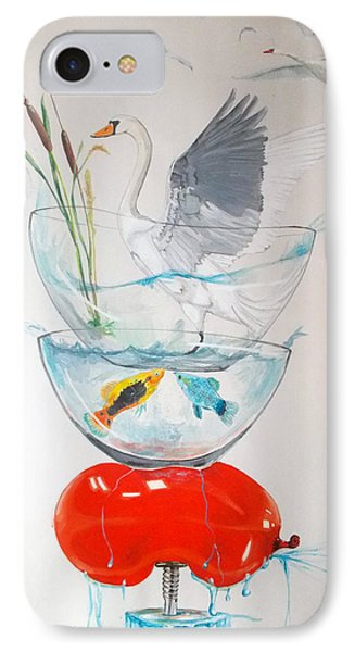 IPhone Case featuring the painting Equilibrium by Lazaro Hurtado