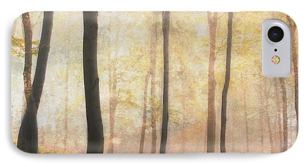 Equilibrium Of The Forest In The Mist IPhone Case by Georgiana Romanovna
